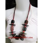 Handmade Necklace Wooden