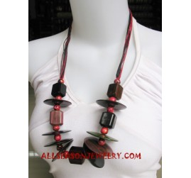 Handmade Necklace Wooden