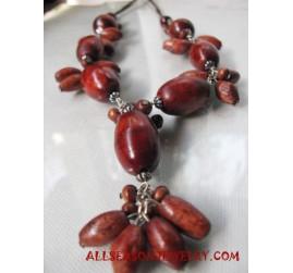 Ladies Necklace Wooden