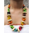 Ladies Necklaces Wooden