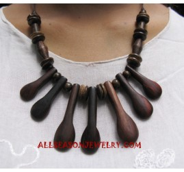 Ladies Wood Necklace