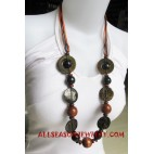 Ladies Wooden Necklaces