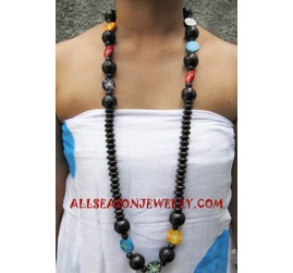 Long Wooden Necklaces