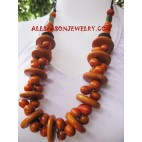 Mahogany Necklaces Wooden