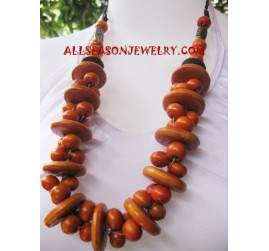 Mahogany Necklaces Wooden