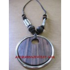 Mahogany Wood Necklace