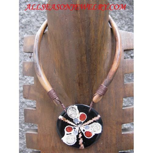 Woods Necklace Mahogany