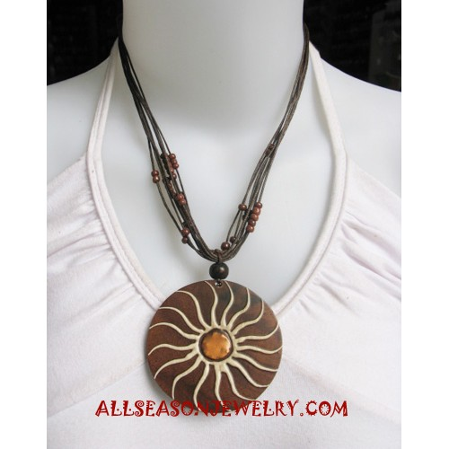 Natural Wood Necklaces