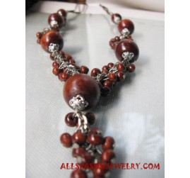Necklace Wooden Natural