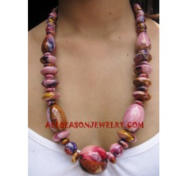 Necklace Wooden Painted