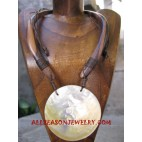 Necklace Wooden Seashell