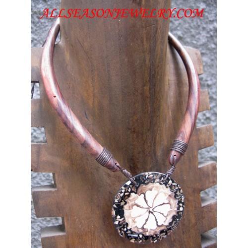 Wooden Necklaces Mahogany