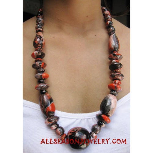 Painted Necklace Wooden