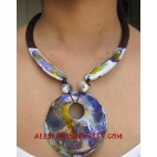 Painting Wooden Necklace