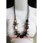 Paintings Wooden Necklace