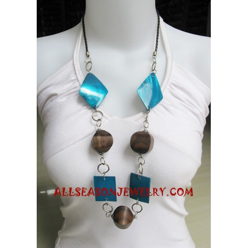 Seashell Wood Necklaces