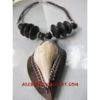 Shells Wood Necklaces