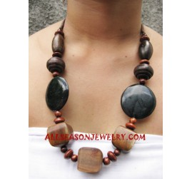 Stone Necklace Wooden