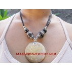 Stone Wooden Necklace