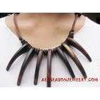 String Wood Necklace