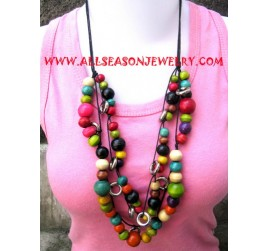 Tropical Wooden Necklace