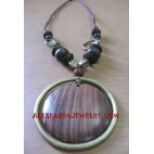 Women Necklace Wooden