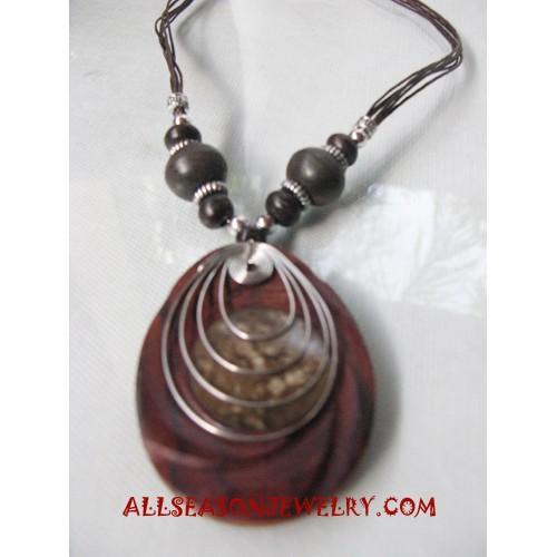 Women Necklaces Wooden