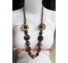 Women Wood Necklace