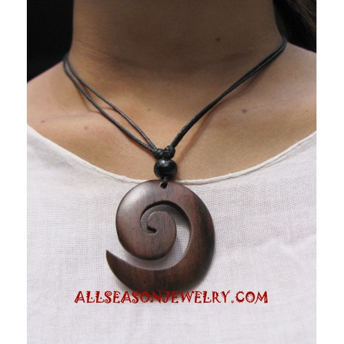 Wood Necklace Carving