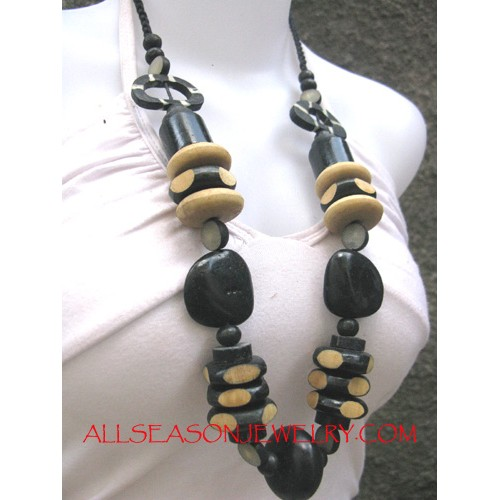 Wood Necklace Combination