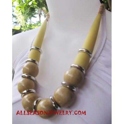 Wood Necklace Handmade