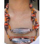 Wood Necklace Painting