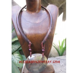 Wood Necklace Pendant