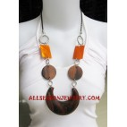 Wood Necklace Shell