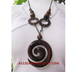Wood Necklaces Carving