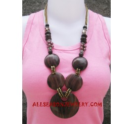 Wood Necklaces Handmade
