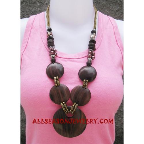 Wood Necklaces Handmade