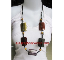 Wood Necklaces Painted