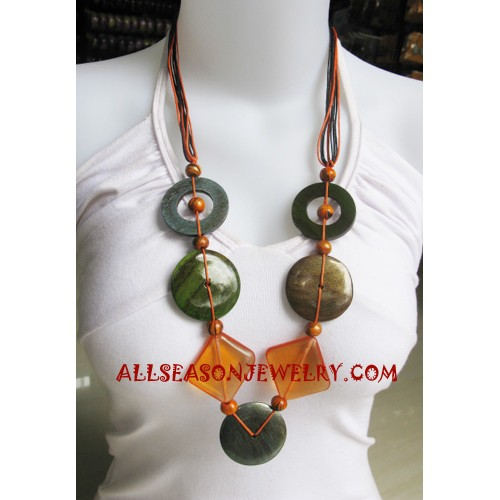 Wood Necklaces Paintings