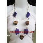 Wood Necklaces Seashell