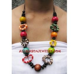 Wooden Bone Necklace