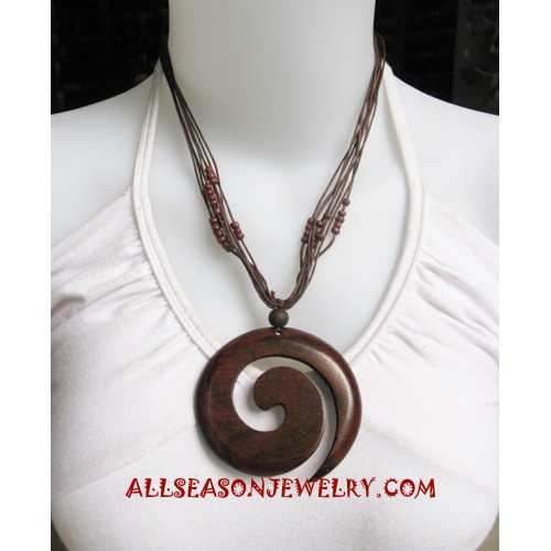 Wooden Necklace Carving
