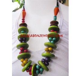 Wooden Necklace Mahogany