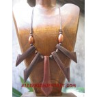 Wooden Necklace Shell