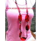 Wooden Necklaces Colored