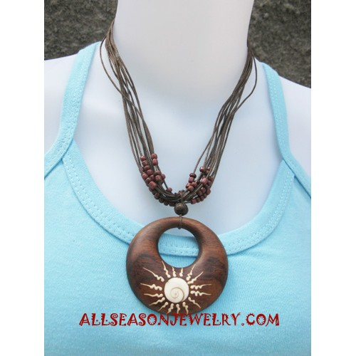 Wooden Necklaces Handpainted