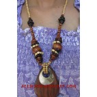 Woods Bead Necklace