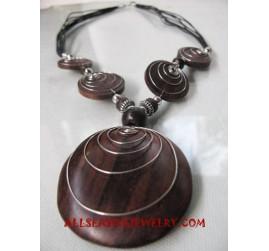Woods Metal Necklace