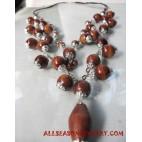 Woods Metal Necklaces