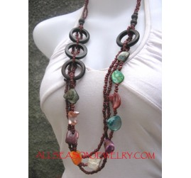 Woody Shell Necklaces